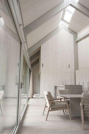 Salle Séjour & Grande Baie Vitrée - Dune-House Par Archispektras - Lettonie