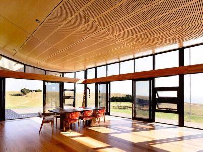 Salle Séjour & Grande Baie Vitrée Coulissante - Flinders-House Par Peter Schaad Design, Australie