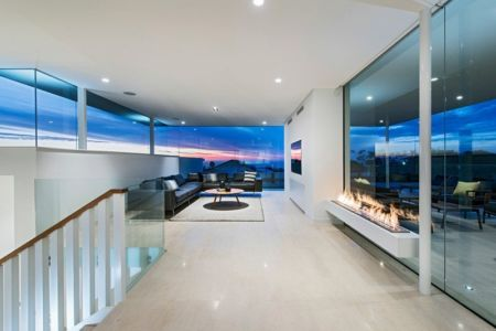 Salon Etage - City Beach House - par Banham Architects - Perth, Australie.jpg