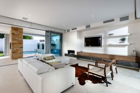 Salon - cottesloe-residence par Custom-Homes - Perth, Australie