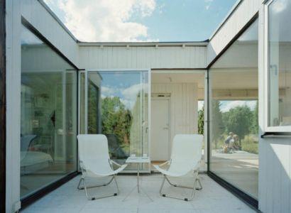cour intérieure - juniper-house par Murman Arkitekter - Kattammarsvik, Suède