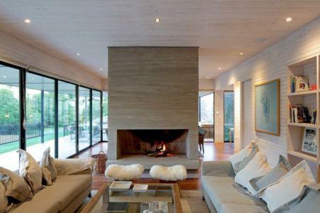 Salon - houses-10-and-10-10 par Gonzalo Mardones - Tierras Blancas, Chilie