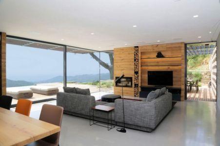 Salon-séjour & Grande Baie Vitrée - Villa-N Par Giordano Hadamik Architects - Imperia, Italie