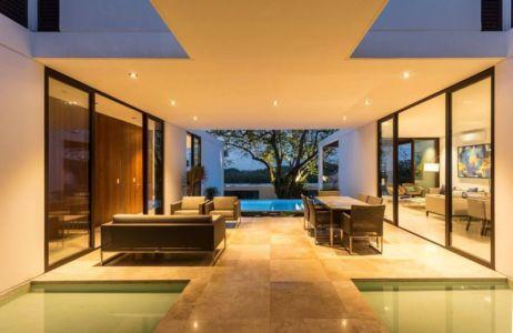 Salon-séjour & Vue Piscine - Casa-Guazuma Par Alberto-Zavala - Tabasco, Mexique