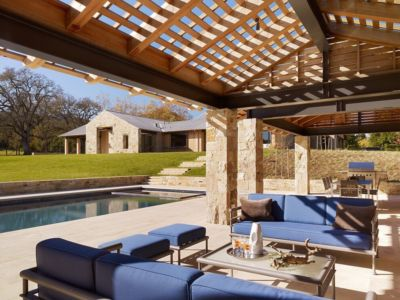 Terrasse et piscine - maison traditionnelle par Chesler Construction - Californie, USA