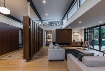 Salon - Bradnor-Road Par Cymon Allfrey Architects - Fendalton, Nouvelle-Zelande