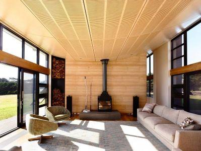 Salon & Cheminée - Flinders-House Par Peter Schaad Design, Australie