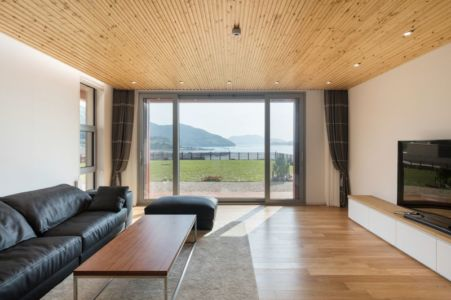 Salon & écran TV - House-Dongmang Par 2m2 Architects - Geoje, Coree Du Sud