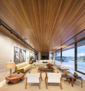 Salon & Grande Baie Vitrée - Fazenda-Boa-Vista Par Fernanda Marques Arquitetos - Porto Feliz, Bresil