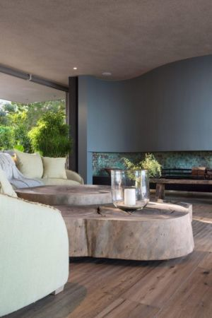 Salon & Mobilier Bois Traditionnel - Beachyhead Par Soata - Plettenberg Bay, Afrique Du Sud