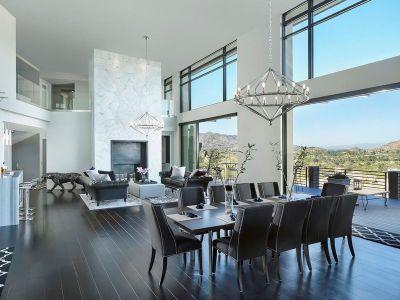 Salon & Salle Séjour - Arizona-Contemporary Par Luster Custom Homes - Arizona, USA