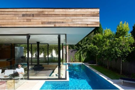 Salon Terrasse Design - Sunken-living-room Par OFTB - Brighton, Australie