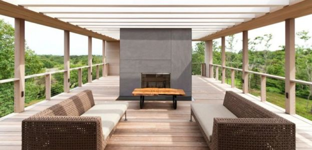 Salon Terrasse Ouverte - Fishers-Island-House Par 4 Architecture - New York, USA
