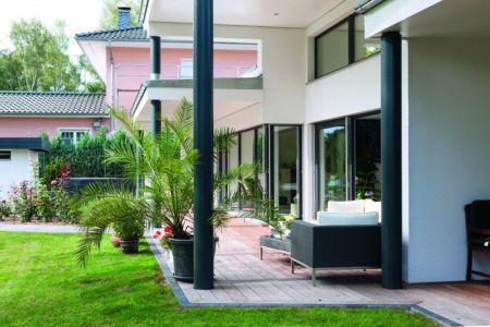 Terrasse - Maison en ossature bois par Weberhaus -Brandebourg, Allemagne
