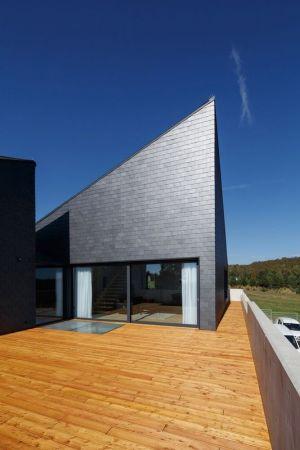 Terrasse Lambris Bois - House-Krostoszowice Par RS+ - Krostoszowice, Pologne