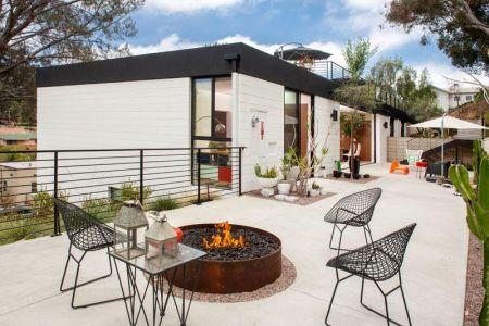 Terrasse Salon Design - Mid-century-family-home Par Nakhshab - San Diego, USA