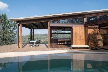 Terrasse Salon Design & Piscine - Gozu-House Par Opus - El Retiro, Colombie