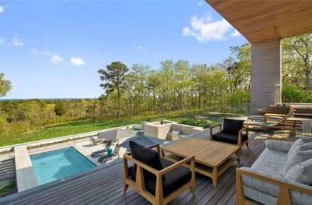 Terrasse Salon Design & Vue Panoramique Paysage - Hampton-Home Par Barnes Coy Architects - Hamptons, USA