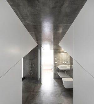 Toilette - Restelo-House Par Joao Tiago Aguiar - Lisbonne, Portugal