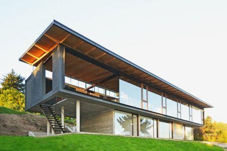 Toiture Bois - House Cs par Alvaro Arancibia - Cachagua, Chili