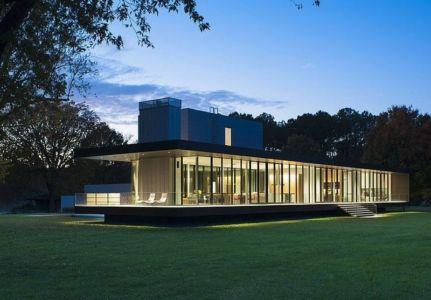 20 maisons de verre contemporaines construire tendance - Maison riviere tred avon robert m gurney architect ...