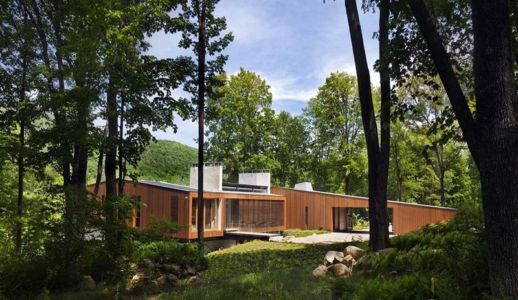 façade entrée - bridge-house par Joeb Moore & Partners - Kent Connecticut, USA