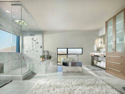 Vaste Salle De Bains - Arizona-Contemporary Par Luster Custom Homes - Arizona, USA