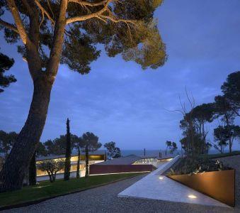 Voie Privée Accès - Summer-Residence Par Fuses Viader Architects - Calonge, Espagne