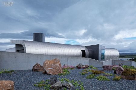 Vue Panoramique Façade Arrière - Private Residence par Eon Architects - Reykjavik,Islande