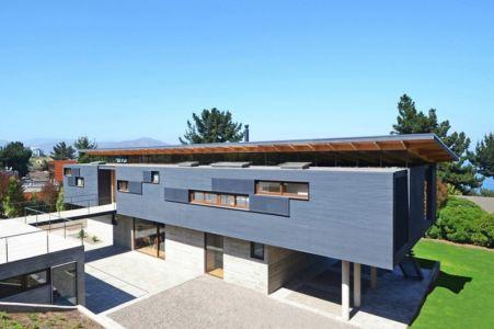 Vue Panoramique Etage - House Cs par Alvaro Arancibia - Cachagua, Chili