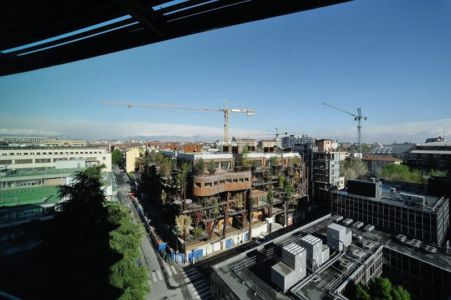 Vue Panoramique Façade - House Green par Luciano - Turin, Italie