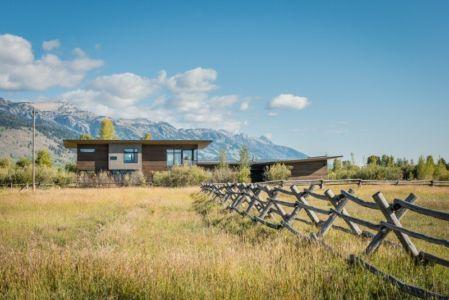 Vue Panoramique - Maison Contemporaine Bois par Carney Logan Burke Architects - Wilson, Usa