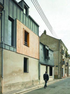 Vue extérieure rue - Agrandissement surévélavation par atelier 100 architecture - Tours, France