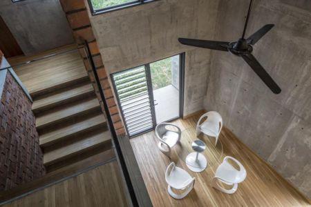Vue panoramique mini salle séjour - Sepang-House par Eleena Jamil Architect - Sepang, Malaisie