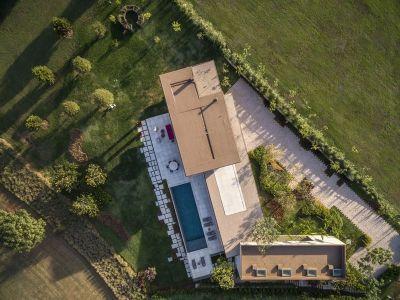 Vue Aérienne Maison En L - Fazenda-Boa-Vista Par Fernanda Marques Arquitetos - Porto Feliz, Bresil