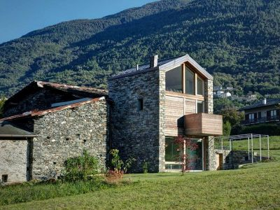 Vue D\'ensemble En Pierres - SV-House Par Rocco Borromini - Albosaggia, Italie
