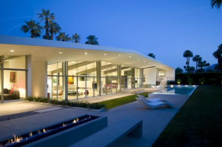 Vue D\'ensemble Illuminée - Desert Canopy House Par Sander Architects - Palm Springs, USA