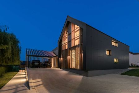Vue D\'ensemble Illuminée - Family-Villa-XL - Sono-Arhitekti - Slovenie