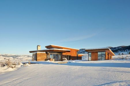 Vue D\'ensemble Neige - Studhorse Par Olson Kundig - Washington, Etats-Unis