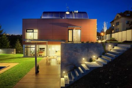 Vue D\'ensemble Nuit - Family Villa Par Fusion Architects - Prague, Republique Tcheque