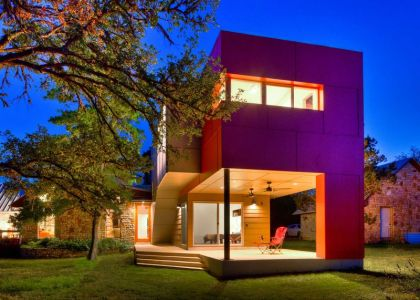 Vue D\'ensemble Nuit - Sleeping-House Par A-Gruppo Architects - San Marcos, USA
