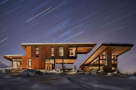 Vue D\'ensemble Nuit - Studhorse Par Olson Kundig - Washington, Etats-Unis