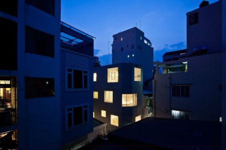 Vue D\'ensemble Site Nuit - HEM-House Par Sanuki Daisuke - Ho Chi Minh, Vietnam