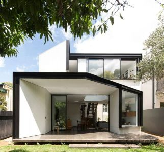 Vue Entrée Salon - Unfurled-House Par Christopher Polly Architect - Sydney, Australie
