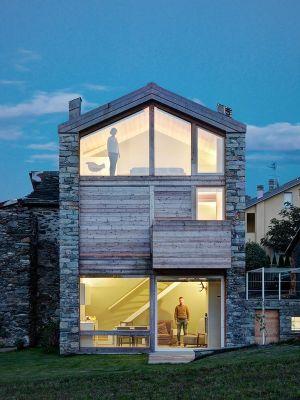 Vue Ouvertures Vitrées - SV-House Par Rocco Borromini - Albosaggia, Italie