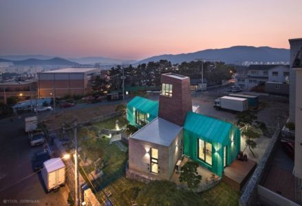 Vue Panoramique - Tower-House-maison-x Par ON Architecture - Gimhae, Coree Du Sud