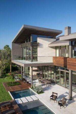Vue Panoramique Terrasse - Ballantrae Court Par Kz Architecture - Floride, USA
