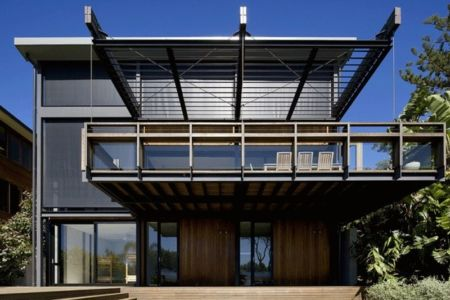 Vue Salon Terrasse Balcon - Surf-Road-House Par Nick Bell D-A - Whale Beach, Australie