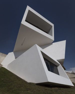 Vue Trois Blocs Superposés - Mosha House Par New Wave-Architecture - Mosha, Iran