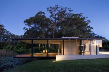 Wirra Willa Pavilion par Matthew Woodward Architecture - Somersby - Australie - Photo Murray Fredericks